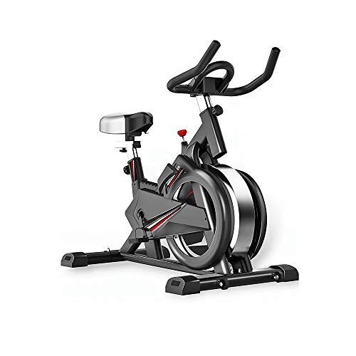 LKNJLL Indoor Cycling Bike, Silent-Riementrieb-Zyklus-Fahrrad mit verstellbarem Lenker & Seat, Verchromte Schwungrad, 5-Funktions-Monitor, Fitness-Bike und Bauchtrainer, Sportgeräte, Ideal Cardio Trai