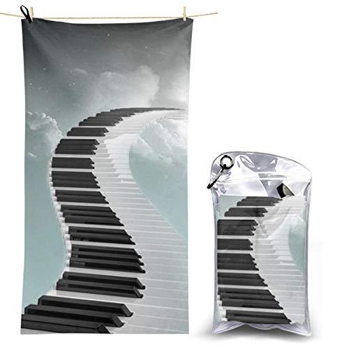 XCNGG Mikrofaser-Strandtuch, Klaviertastatur Schnelle, schnell trocknende...