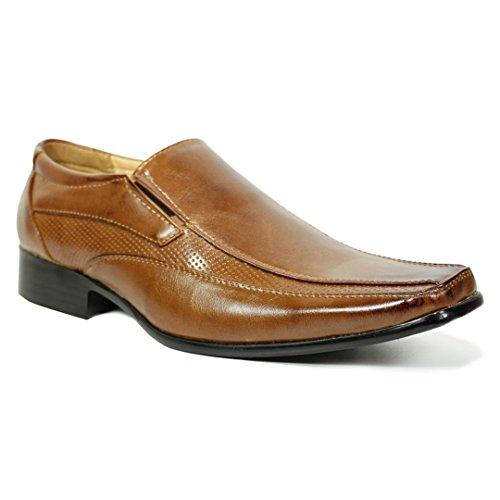 MyShoeStore® Mens Formal Shoes Faux Leather Smart Dress Wedding Black TAN...