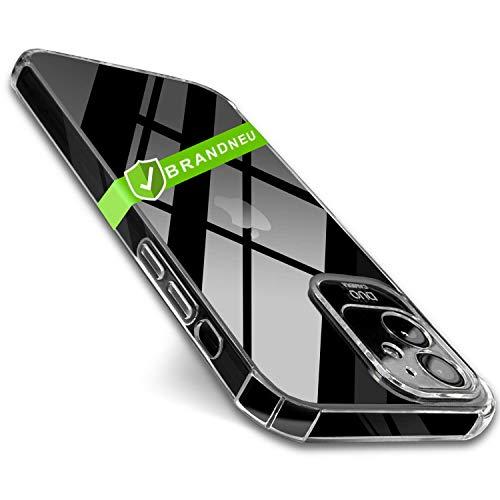 CT-HEXAGON Hülle kompatibel mit iPhone 12 Mini - Kameraschutz - iPhone 12 Mini Hülle Silikon durchsichtig Clear - Transparentes iPhone 12 Mini Hülle für den idealen Schutz