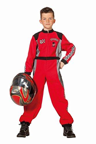 Kinder Kostüm Rennfahrer Overall Karneval Fasching Gr.140