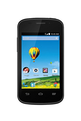 ZTE Zinger Z667T Android GSM Black - No Contract Prepaid Smartphone (Walmart Family Mobile) -...
