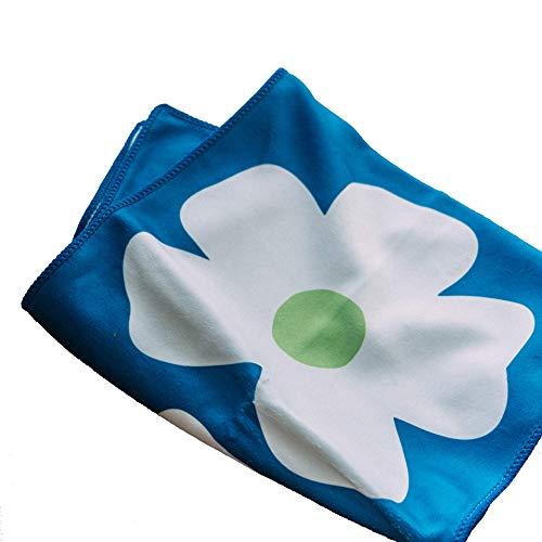 h-edge 30×100cm 北欧風 花柄 フェイスタオル 吸水 速乾