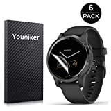 Youniker 6 Pack for Garmin Vivoactive 4 Screen Protector Film for Garmin Vivoactive 4 GPS Smartwatch Screen...