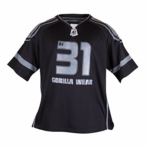 Gorilla Wear Athlete T-Shirt Dennis James - schwarz/grau - Bodybuilding und Fitness Bekleidung Herren, 2XL