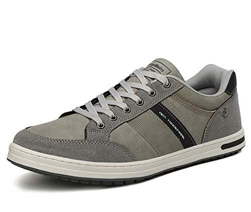 AX BOXING Zapatillas Hombres Deporte Running Sneakers Zapatos para Correr Gimnasio Deportivas Padel Transpirables Casual 40-46 (43 EU, Gris Oscuro)