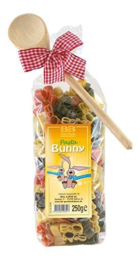 Pasta Präsent Bunny mit bunten Hasennudeln handgefertigt in deutscher Manufaktur