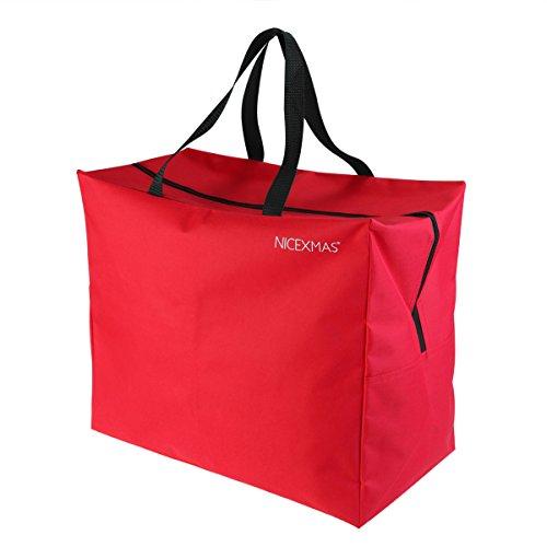 Scopri offerta per NICEXMAS, borsa/custodia per albero di Natale, Red, 46*25*38cm