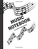 A minimalist manuscript ,music notebook for every instrument