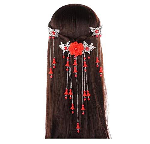 Longue épingle à cheveux à la main, Accessoires anciens, Coiffe Hanfu Cosplay, B05