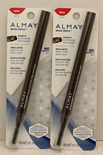 Almay Brow Pencil Triangle Tip, 802 Brunette (Pack of 2)