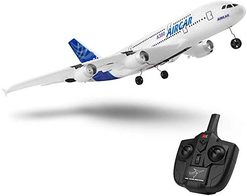 New A380 Airplane 2.4G 3Ch Fixed Wing Outdoor A120-A380 RC Plane Toys (Two Batteries Without Light)