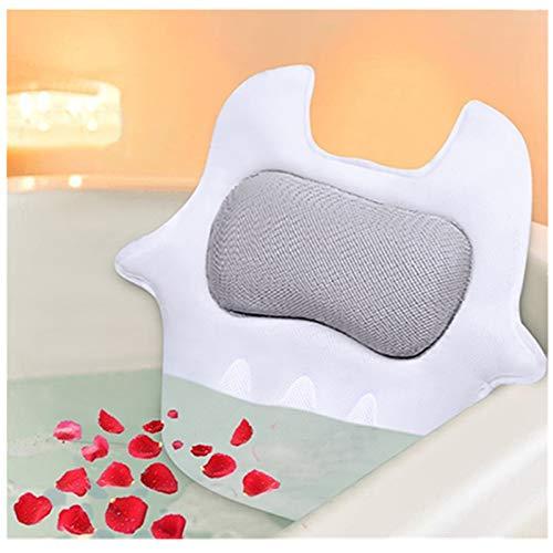 Bilisder Badewannenkissen rutschfest Geeignet für Badewannen und Home Spa, Stützfunktion für Kopf, Rücken, Nacken (Grau)