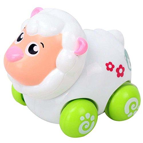 Lot de 2 Wind-up Sheep Toy voiture pour bébé / enfant / enfants (Multicolor)