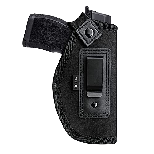 Concealed Carry IWB Holster, Gun Holster for Men and Women, Universal Pistols Holsters for Right and Left Hand, Fits Glock 17 19 26 27 42 43 S&W M&P Shield 9 Bodyguard 380 Taurus P365 P938 (Right)