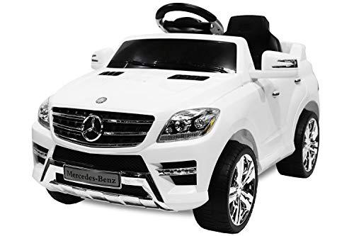 RC Auto kaufen Kinderauto Bild: Toyas Lizenz Kinderfahrzeug Mercedes Benz Jeep SUV ML350 Kinderauto Elektroauto 2X 25W Motor Fernbedienung MP3 Anschluss in Schwarz*