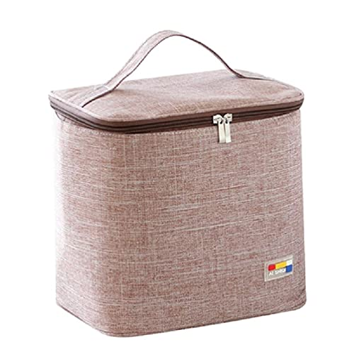 KunmniZ Portable Lunch Bag, Thermal Insulated Lunch Box, Waterproof Tote Cool Bento Pouch Dinner Container School Food Storage Bag, Five Optional Colors, 8.66x7.08x9.45in