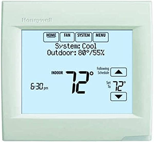 Honeywell TH8320R1003 VisionPro 8000 With RedLINK Digital Thermostat White