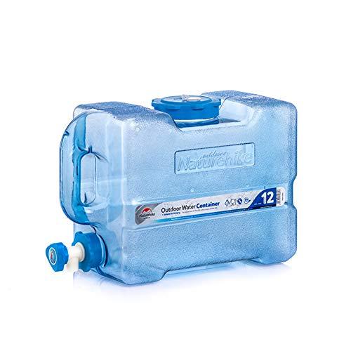Tentock Tanque de Almacenamiento de Agua del Multifuncional al Aire Libre Contenedor de Agua Portátil BPA Gratis, 12L/19L/24L(12L)