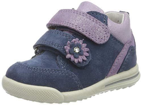 Superfit Baby Mädchen Avrile Mini Sneaker, Blau (Blau/Lila 80), 22 EU