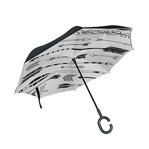 Paraguas invertido Plegable de Doble Capa Paraguas Plegable Tradicional Arma de Caza...
