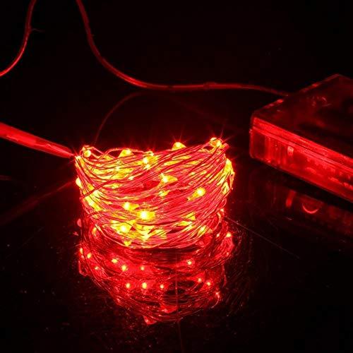 Cadena de alambre de cobre de plata LED 3* AA funciona con pilas impermeable hadas LED luces de Navidad para fiesta de vacaciones decoración de boda