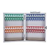 QinWenYan Armarios de Llaves Gabinete de combinación de Montaje en Pared 48 Ganchos Clave gabinete Clave Caja Fuerte para el hogar u Oficina para Casa (Color : White, Size : 40X33.5cm)