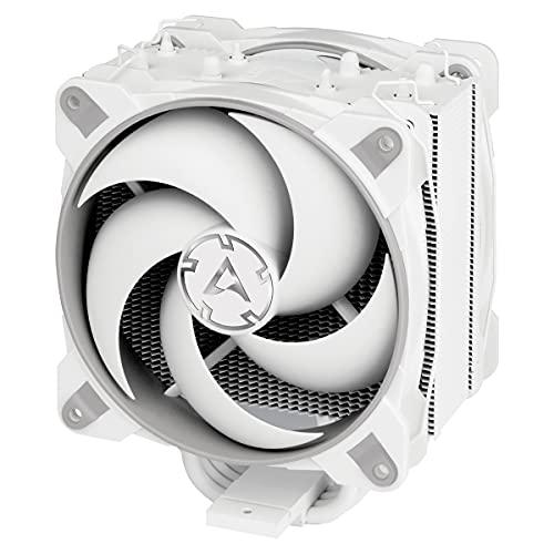 ARCTIC Freezer 34 eSports DUO - Dissipatore di processore semi-passivo con 2 ventole da PWM 120 mm per Intel e AMD, Dissipatore per CPU con raffreddamento - Grigio/Bianco