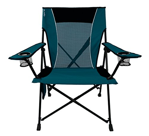 Kijaro Dual Lock Portable Camping and Sports Chair, Cayman Blue Iguana