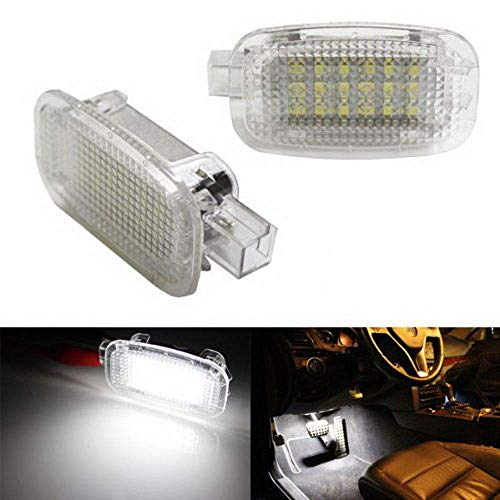 iJDMTOY (2) Full LED Side Door Courtesy Lamp Compatible With Mercedes-Benz C E S R G ML CL SL GL GLK Class, OEM Replacement as Footwell, Vanity Mirror, Trunk or Glovebox Light By 18-SMD White