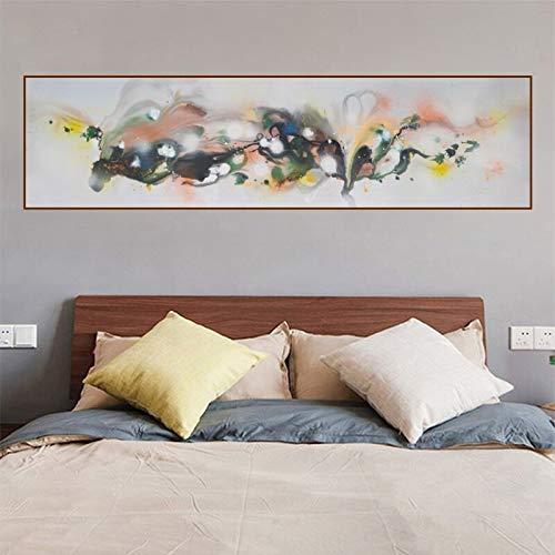 ganlanshu Abstrakte Kunst Leinwand Malerei Wandbild Schlafzimmer Nachttisch Wohnzimmer Moderne Dekoration rahmenlose Malerei 40cmX150cm