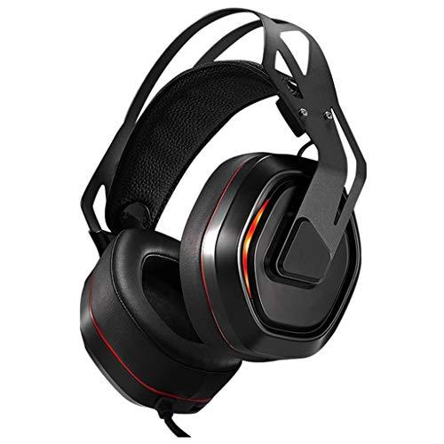 WYH Musique Gaming Casques PS4 stéréo Filaire Xbox Casque PC Gaming Casque avec réducteur de Bruit Mic Over Ear Gaming Casque Résistant à la Sueur