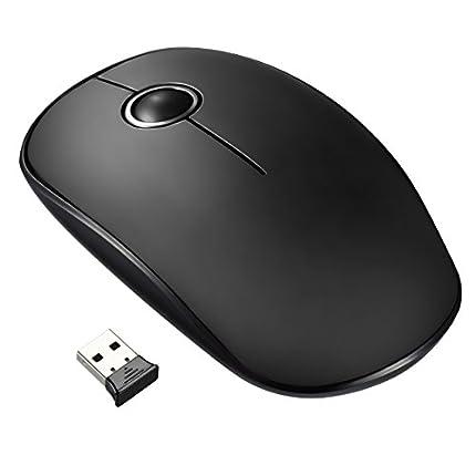 VicTsing 9121701 Ratón Inalámbrico Delgado Mini 2.4G con Receptor Nano, Tecla Silenciosa y Preciso, 1600 DPI, perfecto para Ordenador Portátil / PC / Tableta / MacBook - Negro