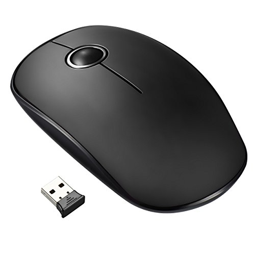 VicTsing Mouse Wireless, 1600DPI, Pulsanti Silenziosi e 2,4G Mouse USB Durata della Batteria 24 Mesi, Compatibile con Laptop, PC, Computer, Notebook, Mac, Nero