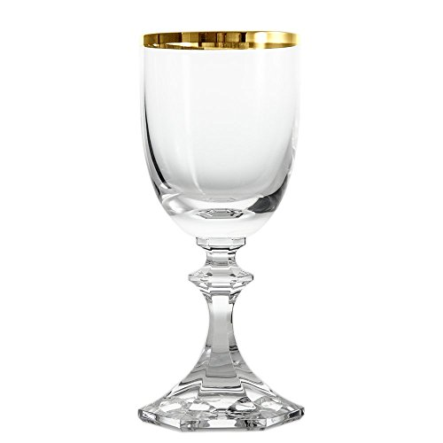 Cristal de Sèvres Margot Or Set de Verres à vin 6.5x6.5x14.5 cm Or