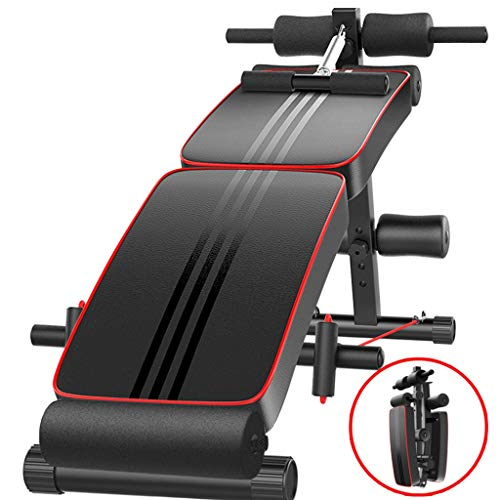 Vdaye Adjustable Weight Bench - Sit Up Bench Foldable Workout AB Bench for Home Gym, Incline/Decline/Flat Perfect for Bench Press, Sit-ups, Leg Lifts, Full Body Fitness (Weight Bench)