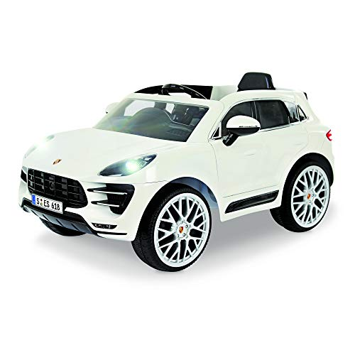 Rollplay W416AC 6V Porsche Macan Kids Ride-On Car - For Boys & Girls Ages 3 & Up - Battery-Powered Ride On Toy - White, 24.41' x 23.23'