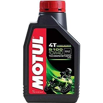 Motul 5100 4T Technosynthese 10W-40 API SL/SJ/SH/SG Semi Synthetic Engine Oil for Bikes s (1L)