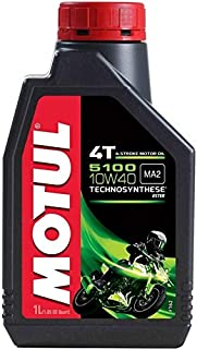 Motul 5100 4T Technosynthese 10W-40 API SL/SJ/SH/SG Semi Synthetic Engine Oil for Bikes s (1L)