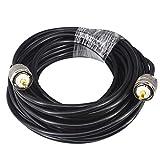 YILIANDUO UHF PL-259 Macho a Macho Antena Cable RG58 10M Baja pérdida de WiFi Coaxial PL259 Conectores coaxiales