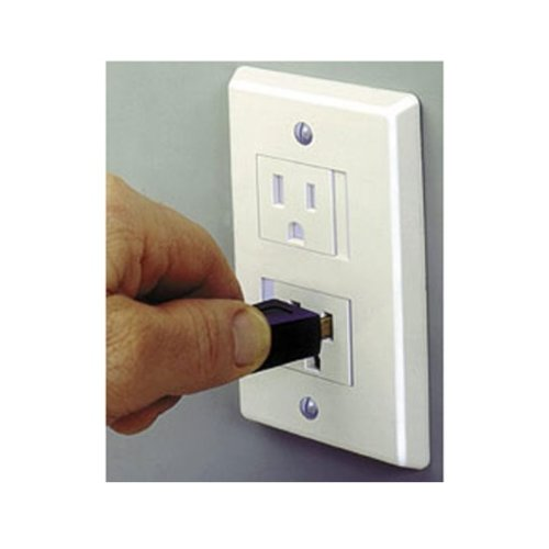 Safe Plate Electrical Outlet Covers Decora, White (2 Screws) (3-Pack)