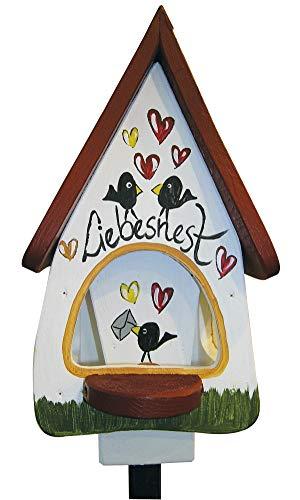 Die Vogelvilla Liebesnest Brief Futtervilla Klein Futterspeicher Vogelhaus
