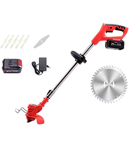 Amazing Deal JXH Cordless Grass Lawn Edge Trimmer,Grass Trimmer, Strimmer Telescopic Handle 21V,with...