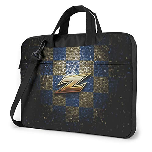 Akron-Zips-Glitter-Blue-Brown Laptop Bag Durable Computer Bag Briefcase Shoulder Bag Computer Carrying Case for Men,Women, Business Briefcases Suitable for Computer/Laptop/MacBook 13 inch