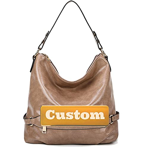 NANSHAN TOPHANDLEBAGS ++ Nombre personalizado personalizado Carry On Man Handle Leather Bag Strap Big Hombro mujeres (Color : Kaqise, tamaño : One size)