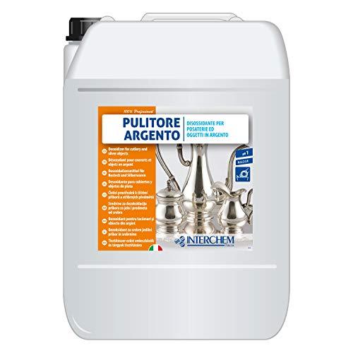 Interchem PUARK10 Pulitore Argento Diossidante per Posateria e Oggetti in Argento, 1 Tanica da 10 kg