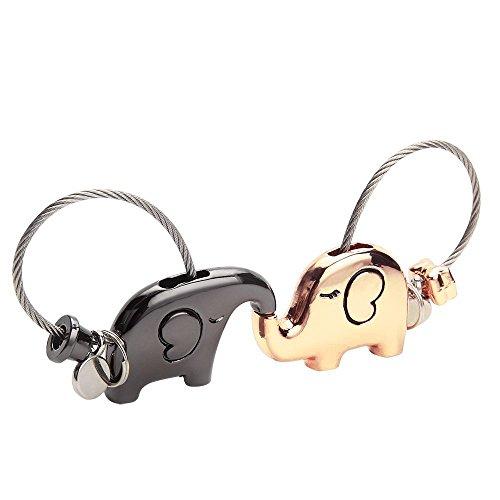 Seilent Sweet Kiss cerdos parejas llaveros llaveros