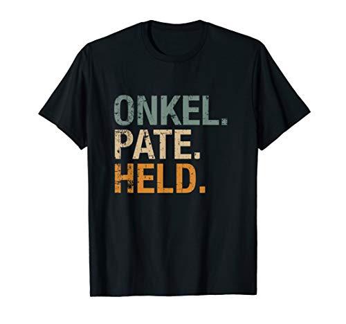 Herren Onkel Pate Held T-Shirt Geschenk für Taufpate