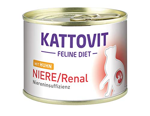 Kattovit 77046 Feline Niere/Renal Huhn, 12er Pack (12 x 175 g)