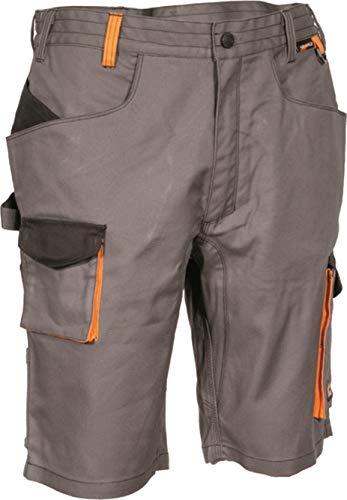 COFRA COFRA Arbeitsshort Slim Work Reihe LIEGI in Mehreren Farben Kurze Arbeitshose (46, anthrazit-schwarz-orange)